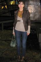 Topshop jacket - Zara blouse - Stradivarius sweater - Zara jeans - Pura Lopez sh