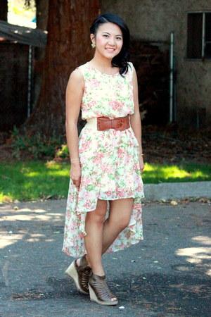 cream floral dress dress