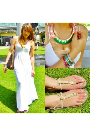 Bash necklace - Louis Vuitton bag - Grendha flats