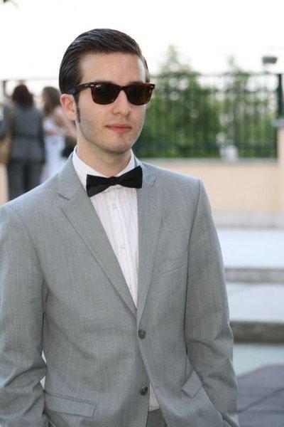 Gray Suit With Black Bow Tie Grey Suit Black Bow Tie
