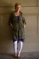 American Rag jacket - thrifted skirt - Newport News tights - arturo chiang on sa