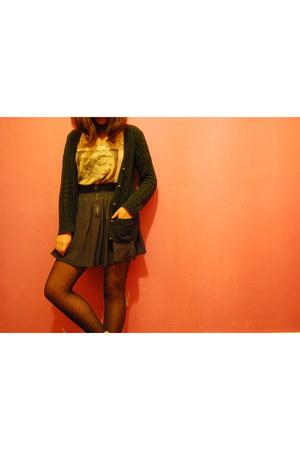 brown leather Zara shoes - polka dot womans secret tights