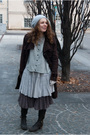 Gray-vero-modaonly-sweater-beige-h-m-dress-brown-miss-selfridges-skirt-bro
