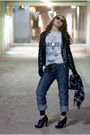 Black-zara-jacket-gray-levis-t-shirt-blue-jeans-black-glasses-silver-ald