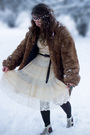 White-chloe-dress-brown-coat-brown-h-m-tights-brown-shoes-brown-random-b