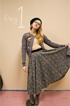 Urban Outfitters boots - incognito sweater - vintage blouse - vintage skirt
