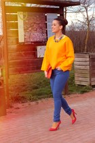 carrot orange outfit Zara jumper