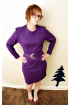 purple Vintage SoearMeEtsy dress - vintage shoes