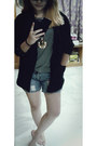 Jeans-black-blazer-heather-gray-forever-21-t-shirt-tiger-necklace