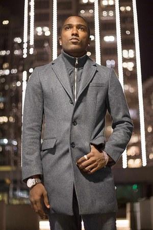 banana republic coat - Levis jeans - Kenneth Cole watch - Aldo accessories