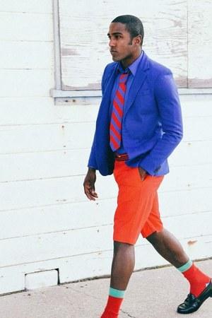 Louis Vuitton shoes - JCrew blazer - Yves Saint Laurent shirt