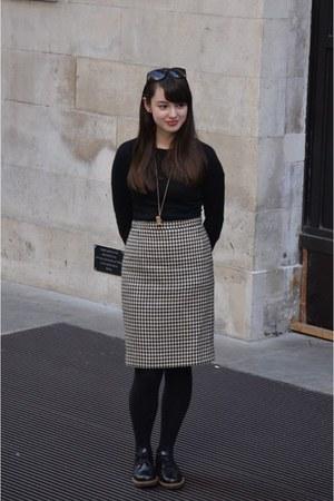 black Office shoes - black MaxMara skirt - black Primark jumper
