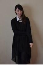 black Love skirt - white M&S shirt - black H&M jumper