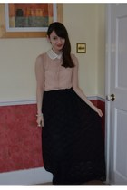 black lace DIY skirt