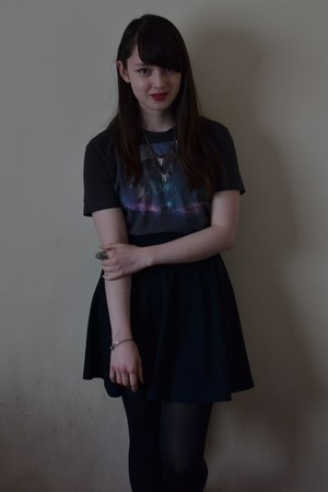 dark gray Primark shirt - black Topshop skirt