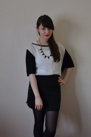 white River Island shirt - black H&M skirt