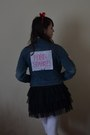 Blue-therapy-jacket-black-primark-skirt
