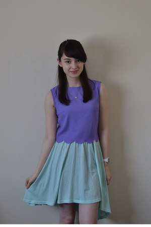 light purple Ever Ours shirt - aquamarine H&M dress
