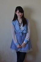 sky blue brick lane shirt - white Swatch watch