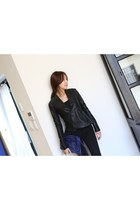 Hot leather jacket FAUX LEATHER TAILORED JACKET from Spicy Avenue