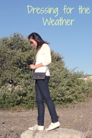 H&M sweater - J Brand jeans - Rebecca Minkoff purse - Superga sneakers