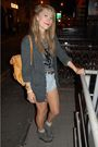 Gray-american-apparel-cardigan-gray-ysl-t-shirt-blue-levis-shorts-gray-acn