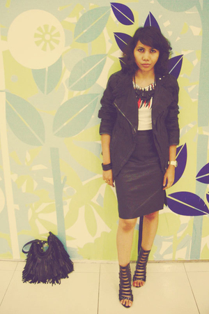 shirt - skirt - Topshop accessories - Zara jacket - shoes - accessories