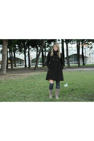 Zara coat - Stradivarius panties - Stradivarius boots