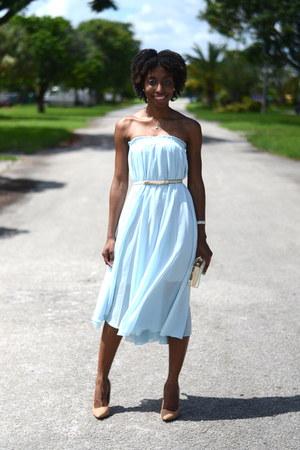 beige skinny Glint&Gleam belt