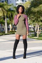 forest green Charlotte Russe dress