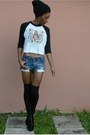 Black-forever-21-boots-light-blue-diy-shorts