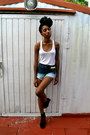 Navy-ombre-diy-shorts-gold-ear-cuff-oasap-accessories-cream-pacsun-top