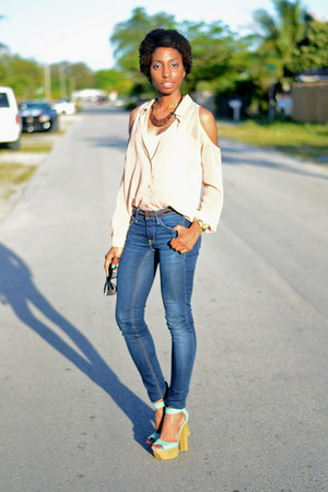 navy skinny H&M jeans