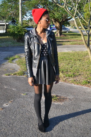 black OASAP jacket - black PacSun skirt
