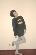 black batman Urban Outfitters sweater - silver Folded and Hung pants