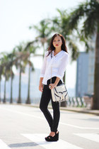 Rebecca Minkoff bag - Zara pants - Michael Kors blouse