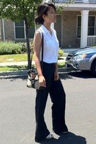 Gucci bag - Old Navy blouse - H&M pants - seychelles wedges