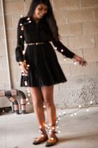 black LA Boutique dress - black Forever 21 flats