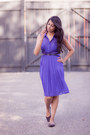Deep-purple-forever21-dress-black-forever21-flats
