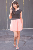 light orange Forever21 skirt - black American Eagle top