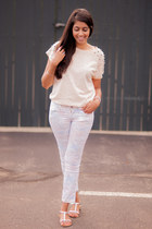 periwinkle H&M jeans - light pink Forever21 t-shirt