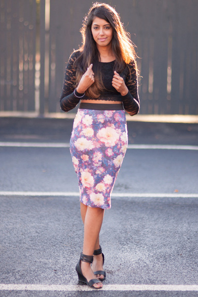 Zara skirt - Forever 21 top