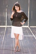 light pink Forever21 skirt - black Forever21 top
