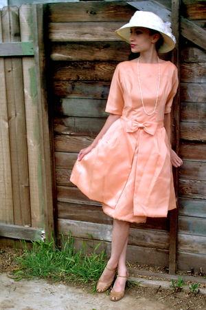 pink 60s vintage dress dress