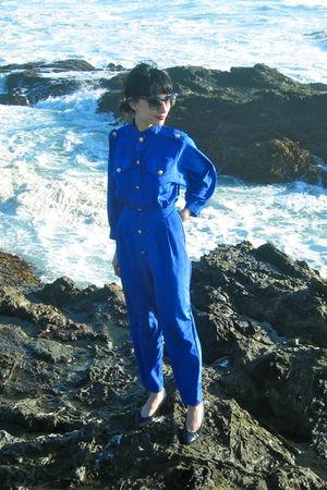 blue vintage suit