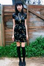 cheong sam dress - black Sock Dreams socks - Target shoes