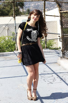 Rebecca Minkoff bag - Miss Me skirt - UNIF t-shirt - sam edelman pumps