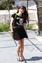 Rebecca Minkoff bag - Miss Me skirt - UNIF t-shirt - sam edelman pumps