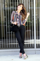 Zara top - Guess jeans - Zara bag - Juicy Couture pumps
