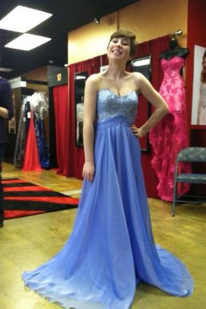 periwinkle La Femme dress